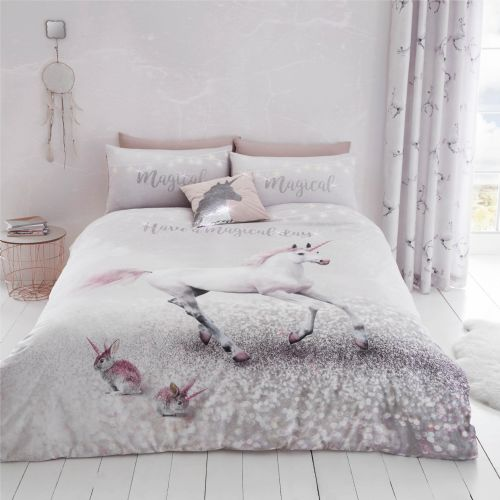 Catherine Lansfield Enchanted Unicorn Pink Bedding Set